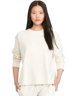 Satin-trim Sweatshirt