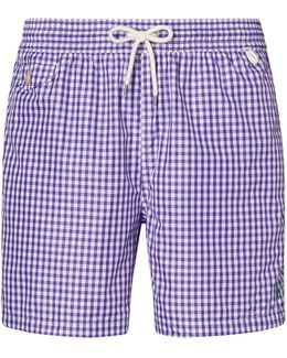 51⁄2-inch Gingham Swim Trunk