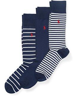 Striped Trouser Sock 3-pack