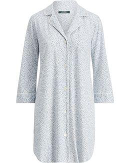 Floral Cotton Sleep Shirt