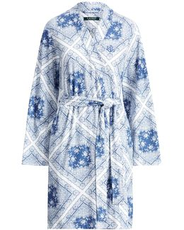 Cotton-blend Kimono Robe