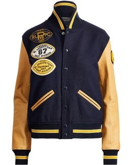 Wool Patch Bomber Jacket