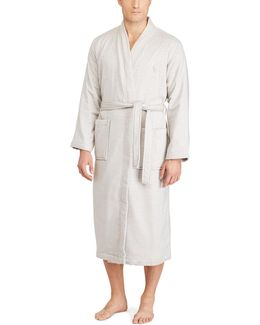 Terry-lined Shawl-collar Robe