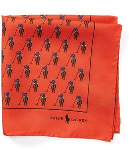 Polo Player Silk Pocket Square