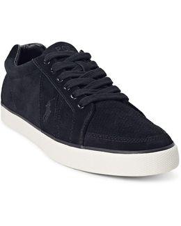 Hugh Perforated Suede Sneaker