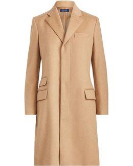 Wool-blend Chesterfield Coat