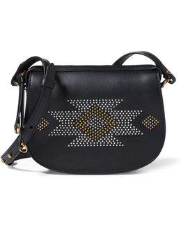 Leather Mini Microstud Bag