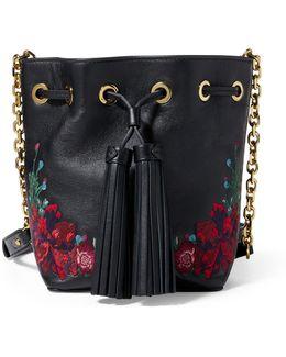 Embroidered Nappa Bucket Bag