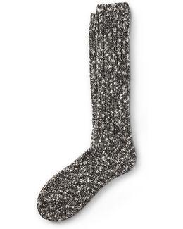Metallic Ragg Crew Socks