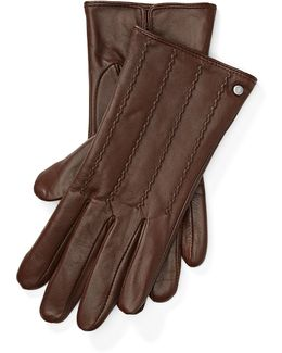 Laced Leather Tech Gloves