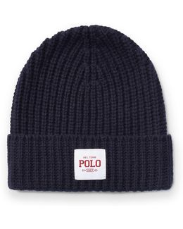 Ribbed Wool-blend Hat