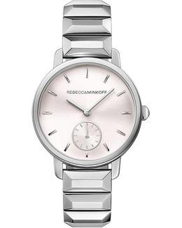 Bffl Silver Tone Bracelet Watch, 36mm