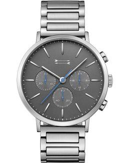 Griffith Silver Tone Bracelet Watch, 43mm