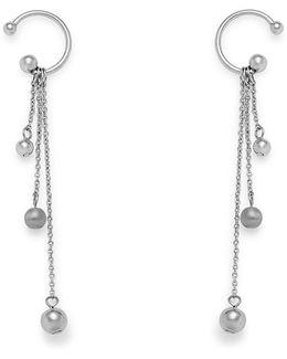 Linear Triple Drop Sphere Earring