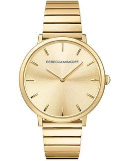 Major Gold Tone Bracelet Watch, 35mm