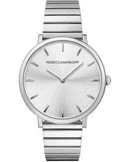 Major Silver Tone Bracelet Watch, 35mm