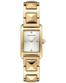 Moment Gold Tone Bracelet Watch, 19mm X 30mm