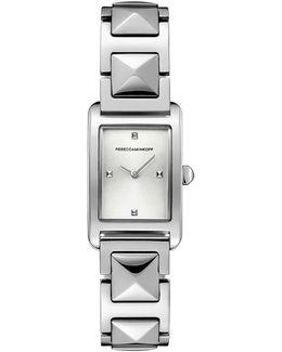 Moment Silver Tone Bracelet Watch, 19mm X 30mm