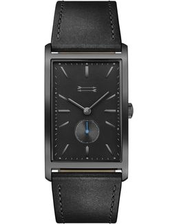 Pesaro Black Tone Leather Watch, 27mm X 45.5mm