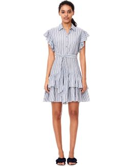 Yarn-dyed Striped Dress