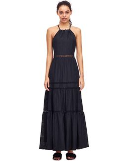 Textured Floral Maxi Dress