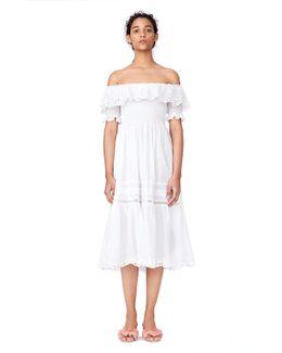 Off-the-shoulder Nouveau Eyelet Dress