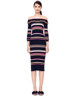 Striped Ribbed Dress