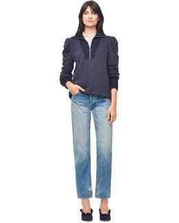 Fleece Turtleneck Zip Pullover
