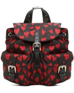 Backpack In Heart Print