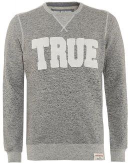 Sweatshirt Double Knit Grey Logo Sweat