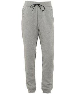 Track Pants Cuffed Logo Heather Grey Trackpant