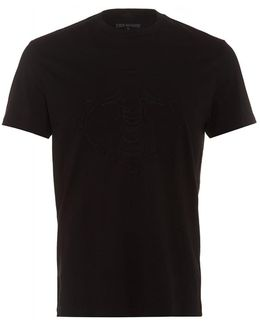 T-shirt Embroidered Buddha Black Tee