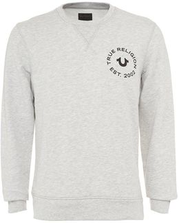 Sweatshirt Horseshoe Stamp Logo Grey Jumper