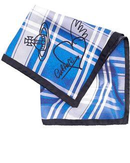 Handkerchief, Blue White Tartan Check Hanky