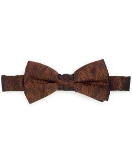 Bow Tie Gold Sketch Honeycomb Clip Tie