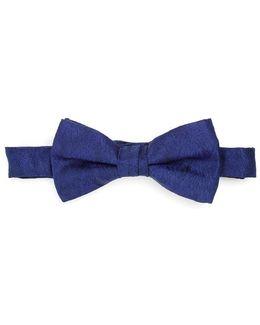 Bow Tie Blue Sketch Honeycomb Clip Tie