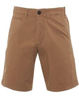 Chino Shorts Beige Regular Cotton Twill Short