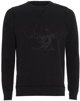 Sweatshirt Black True Religion Brand Buddha Logo
