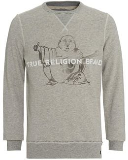 Sweatshirt Grey True Religion Brand Buddha Logo