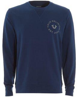Large Horseshoe Logo Navy Blue Sweatshirt