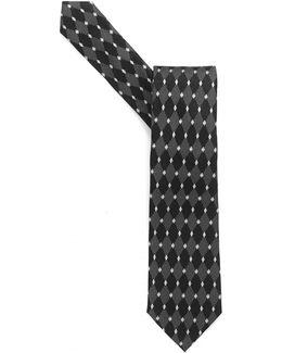 Tie, Black Diamond Silk Tie