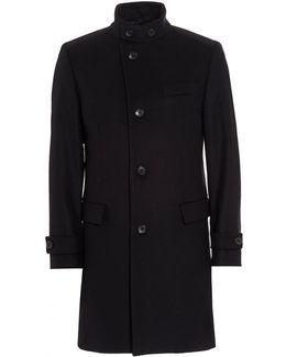 Sintrax1 New-wool Blend Navy Blue Coat