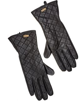 Lifestyle Gauntlet Quilted Leather Gloves