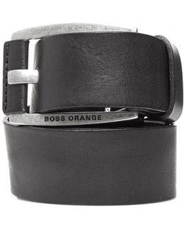 Bakaba-n Vintage Look Black Leather Belt