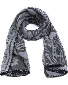 Stole Paisley Print Grey Blanket Scarf