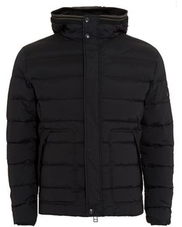 Black Quilted Puffa Jacket