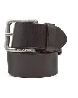 Jeek Basic Black Leather Belt