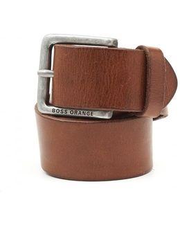 Jeek Basic Choc Leather Belt