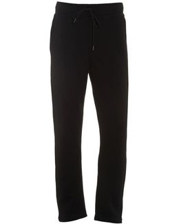 Dripping Horseshoe Track Pants, Black Cuffed Sweatpants