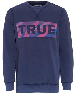 Camo True Logo Sweatshirt, Rubgy Blue Jumper